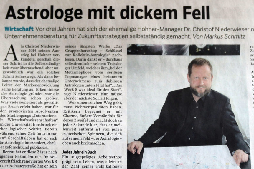 Business Astrologer Niederwieser News