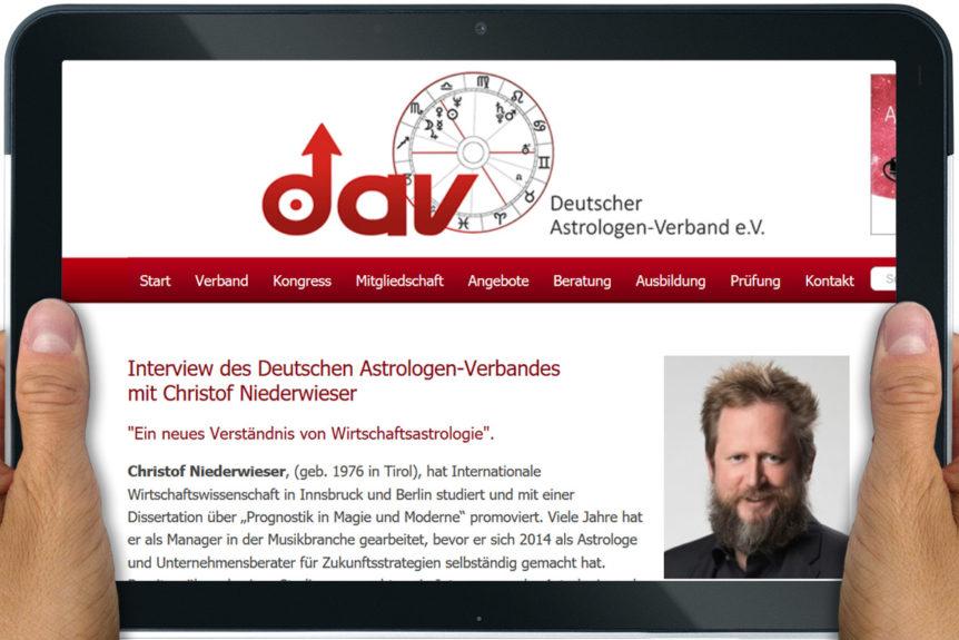 Interview on Business Astrology for German Astrologer Association DAV
