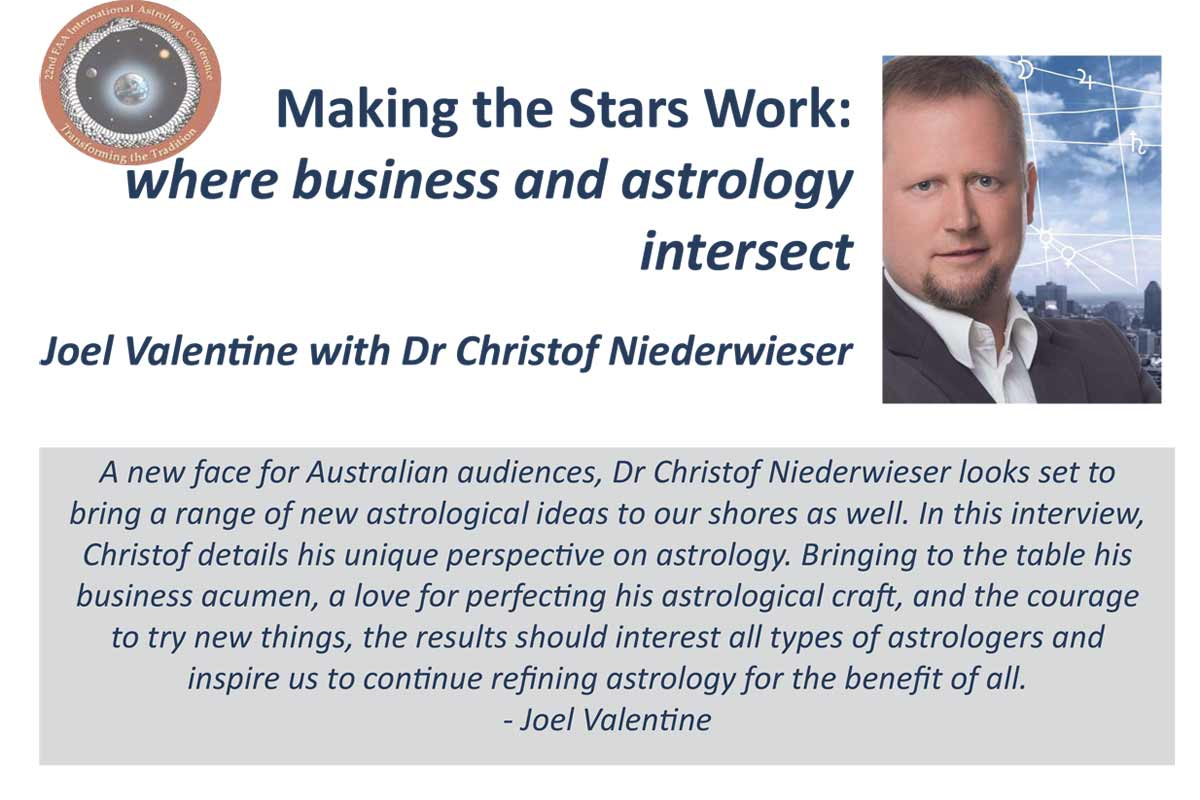 Federation of Australian Astrologers - Dr. Christof Niederwieser